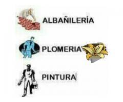 Albañileria plomeria y pintura