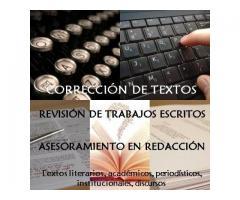 Corrección Revisión De Textos Asesoramiento En Redacción