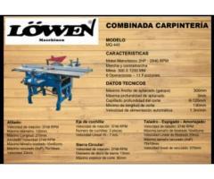Combinada para carpinteria de 6 funciones Lowen