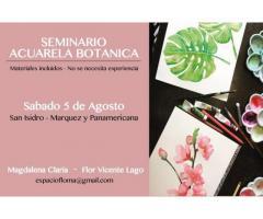 Seminario Acuarela Botánica 5 de Agosto