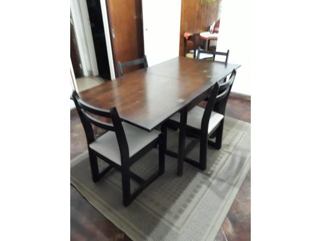 Mesa libro comedor madera con 4 sillas - Capital Federal - Segunda ...