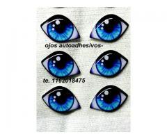 ojos autoadhesivos 3 D
