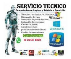 Servicio Técnico Para Pc, notebook a Domicilio