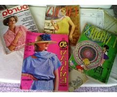 revistas antiguas Labores, Madame, Burda 4 en total