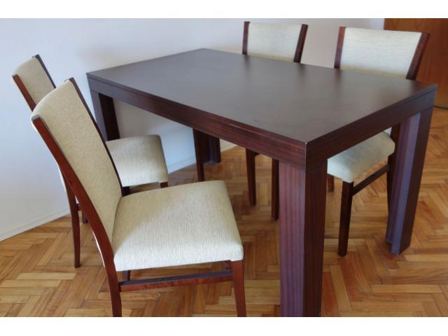 Mesa comedor de calidad c/4 sillas - Capital Federal - Segunda mano ...