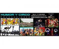 SHOW DE CIRCO PARA EVENTOS 11 6390 8820 ARTISTAS FIESTAS RECEPCIONES