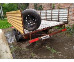 Trailer grande reforzado rueda de auxilio Suspensión Luces 2,70 x 1,80