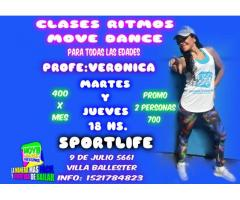 clases de ritmos move dance