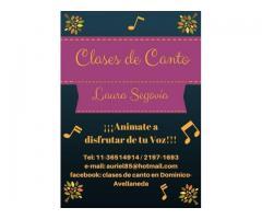 CLASES DE CANTO EN DOMINICO AVELLANEDA