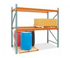 Rack inicial 3,5 de alto x 1 de prof. con 2 estantes para 2000 kilos