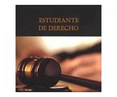 Estudiante de Derecho Ad honoren 2 veces por semana 3hs