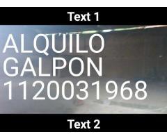 ALQUILO GALPON BURZACO