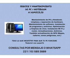 SERVICIO TECNICO DE COMPUTADORAS, NOTEBOOKS Y NETBOOKS.