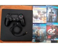 Playstation 4 Slim 1TB + Joystick + 4 Juegos