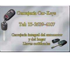 cerrajeria automotor 15-2639-4107 ituzaingo 24  hs