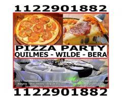 Pizza Party Manteleria Vajilla Catering Dj Foto Vid Zona Sur