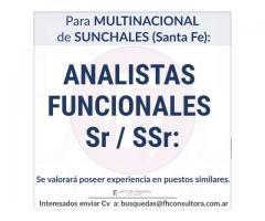 Analista Funcional Sr y SSr