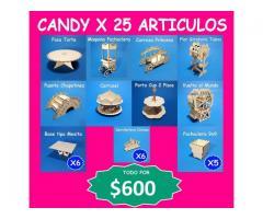 CANDY BAR X 25 ARTICULOS SOLO VENTA $600 EXCELENTE OFERTA