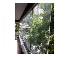 Cerramiento panoramico para balcones de vidrios templados
