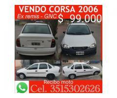 VENDO CORSA CLASSIC 2006 - 4 PUERTAS C/GNC