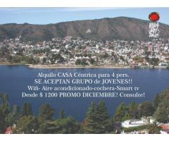 CARLOS PAZ DISPONIBLE hoy!! ALQUILO  CASA PARA 4 PERS