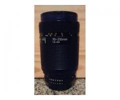 Lente Nikon 70-210 mm.