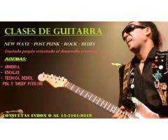 CLASES DE GUITARRA - New Wave - Post Punk - Rock - Blues
