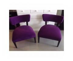 juego de comedor 6 sillas tapizadas y 2 materas lisas