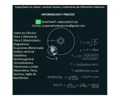 Resolución de problemas de física matemática y química apoyo académico