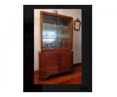 Mueble antiguo aparador cristalero guarda vajilla