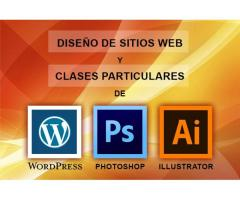 Curso clases de wordpress, photoshop, illustrator