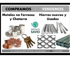 Compra y venta de hierros, chatarra y metales no ferrosos