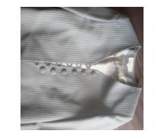 saco rayado gris small/medium importado