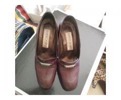 zapatos cuero denin 36