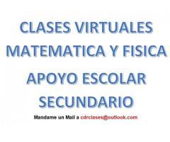 Clases Virtuales de Apoyo Matemática y Física Secundario