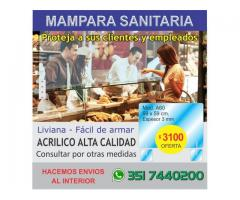 MAMPARA PROTECCION SANITARIA