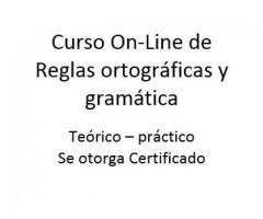 Curso Reglas ortográficas y Gramática Español