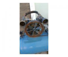 Compresor Grande de Dos Cabezales Monofasico Tanque 200lt
