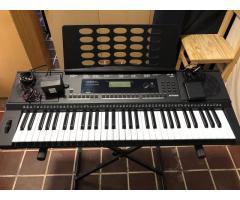 Teclado Kurzweil Kp100 5 Octavas + Fuente Yamaha + Pedal Cherub
