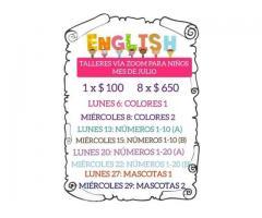 Taller de Inglés para niños por zoom