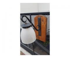 aplique estilo campo rustico sobre madera y hierro 1 luz