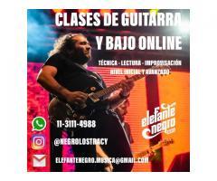 Clases de guitarra y bajo online