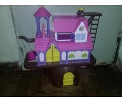 Casa del árbol muñecas juguete