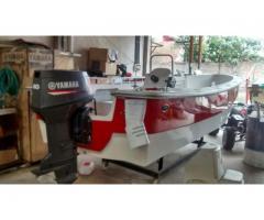 Lancha Tracker 5.35 Mts Excedo M180 Fisher Motor Yamaha 60 HP Full - Vendo o Permuto