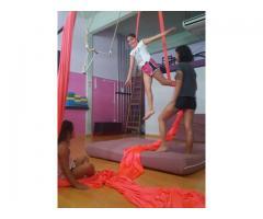 Clases de Telas para niños. Acro Telas Kids en San Andrés