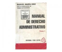 Manual de derecho administrativo de Manuel María Diez