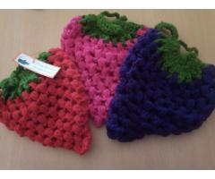 Agarraderas tejidas a crochet
