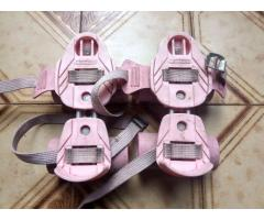 Patines rosas extensibles usados