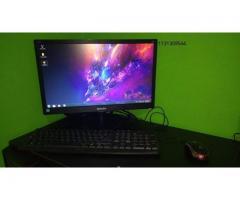 Pc Con Monitor Oficina Y Juegos A4 4000 4 Ram Gt 210 Ssd 120