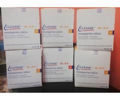 Jeringas Clexane por 40mg/0,4ml, cajas cerradas por 10 u.